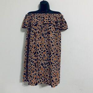 Dresses & Skirts - Leopard PRINT Cold Shoulder Mini Dress Size
